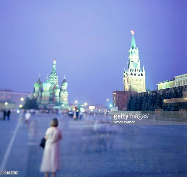 Russia, Moscow, Red Square, dusk