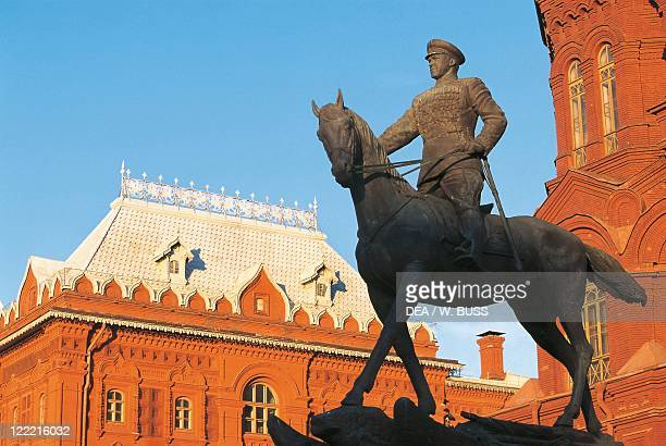 Russia - Moscow. Red Square . Equestrian statue of Marshall Zhukov.
