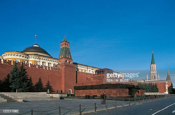 Russia - Moscow. Red Square . Kremlin and Lenin Mausoleum, 1929.