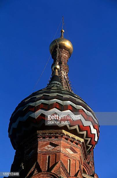 Russia - Moscow. Red Square . Saint Basil's Cathedral . Dome.