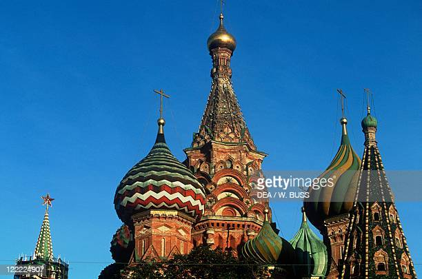 Russia - Moscow. Red Square . Saint Basil's Cathedral .