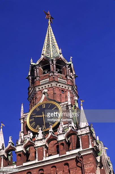 Russia Moscow Red Square Spasskaya Tower