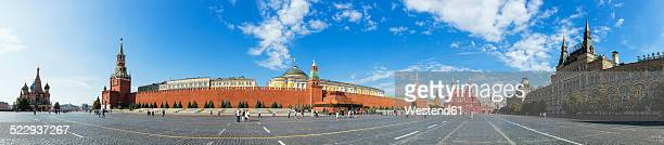 russia, moscow, red square with buildings - red square stock pictures, royalty-free photos & images