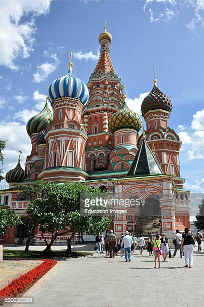 Russia Moscow St Basil cathedral