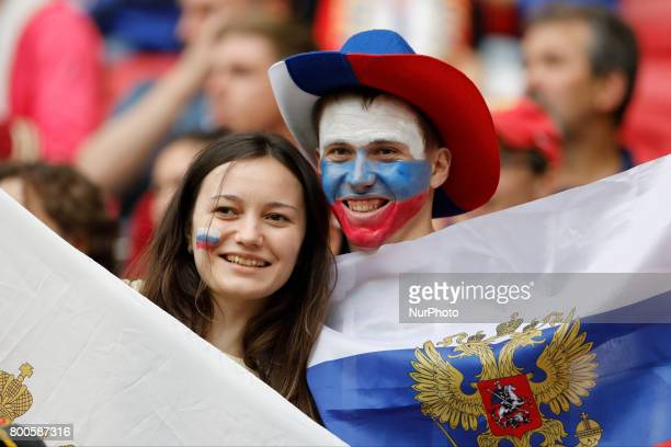 Russia national team supporter during the Group A FIFA Confederations Cup Russia 2017 match between Russia and Mexico at Kazan Arena on June 24 2017...