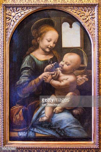 Russia, Saint Petersburg, Madonna and Child by Leonardo Da Vinci, Benois Madonna, Hermitage Museum.