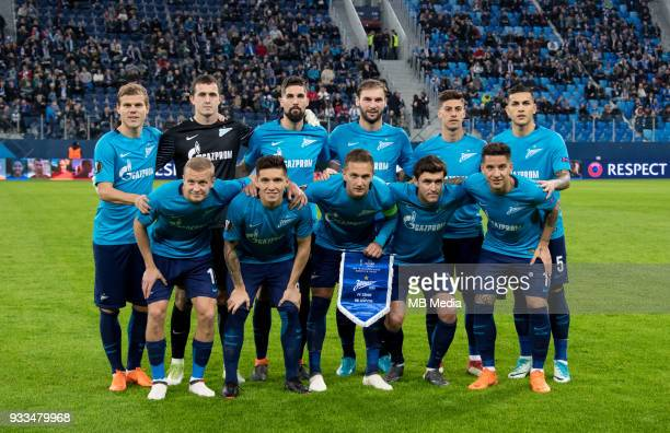 Russia Saint Petersburg Saint Petersburg Stadium UEFA Europa League 2017/18 Round of 16 Second leg Zenit 'u2014 RB Leipzig Zenit St Petersburg's Igor...