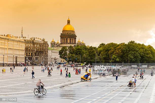 Russia, Saint Petersburg, Summer Garden and St. Isaacs Church
