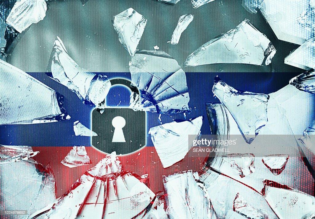 Russia security concept : Bildbanksbilder