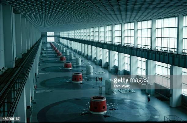 Russia, Siberia, Krasnoyarsk Region, 1960s: Krasnoyarsk HYDROELECTRIC POWER STATION.