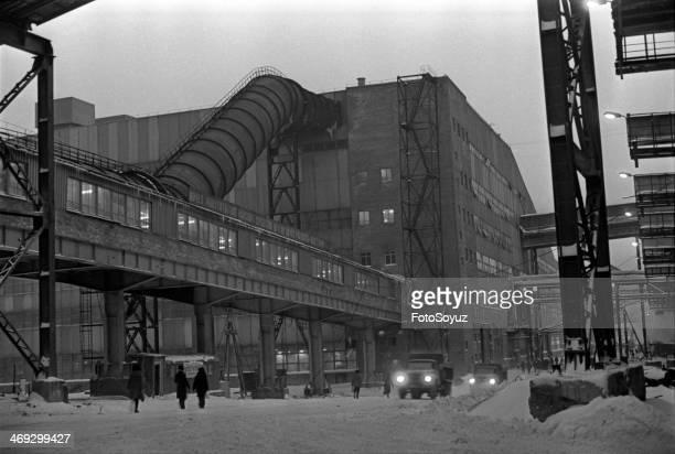 Russia, Siberia, Krasnoyarsk Region, 1970s: Factory 'Hope Tajmyra'?, Norilsk, Zapoljare, October-November, 1979.