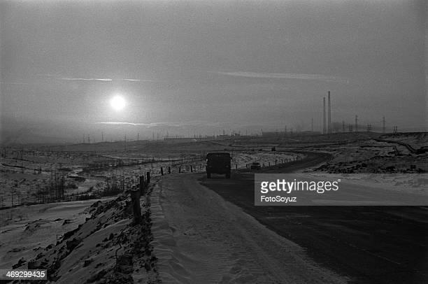 Russia, Siberia, Krasnoyarsk Region, 1970s: Road to 'to Hope', Norilsk, Peninsula Tajmyrsky.