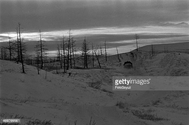 Russia, Siberia, Krasnoyarsk Region, 1970s: Taimyr peninsula, Tundra, Zapoljare.