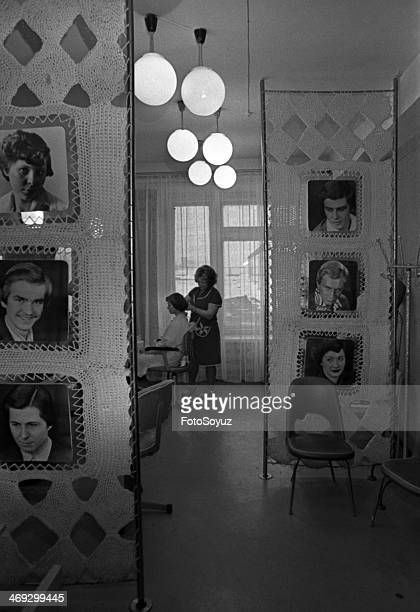 Russia Siberia Krasnoyarsk Region 1970s The house of a life A hairdressing salon Norilsk Zapoljare OctoberNovember 1979