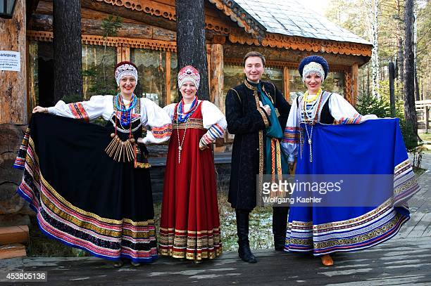 Russia Siberia Near Irkutsk Russian Folk Group In Traditional Costume