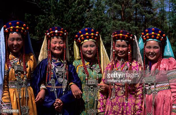 Russia Siberia Near Ulan Ude Young Women In Traditional Mongolian Dress
