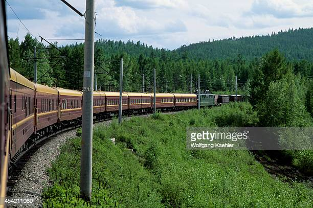 Russia Siberia Near Yerofei Pavlovich 'russia' Trans Siberian Special Train