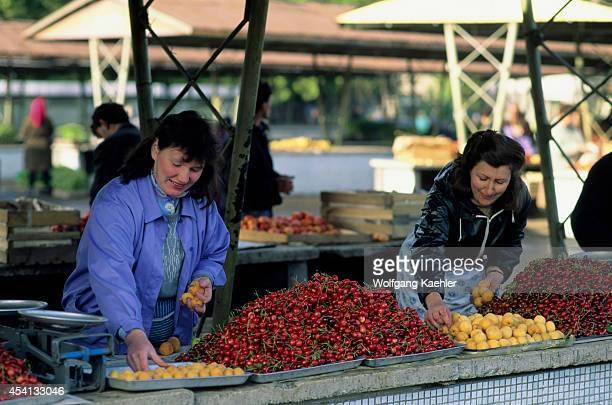 Russia Siberia Novosibirsk Market Scene