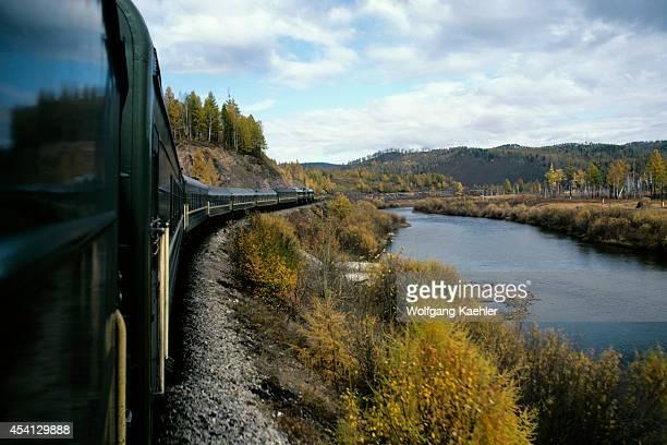 Russia Siberia Trans Siberian Express Fall Landscape