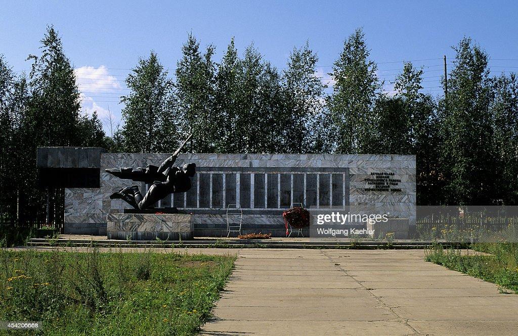 Russia, Siberia, Yenisey River, Turuchansk, War Memorial.