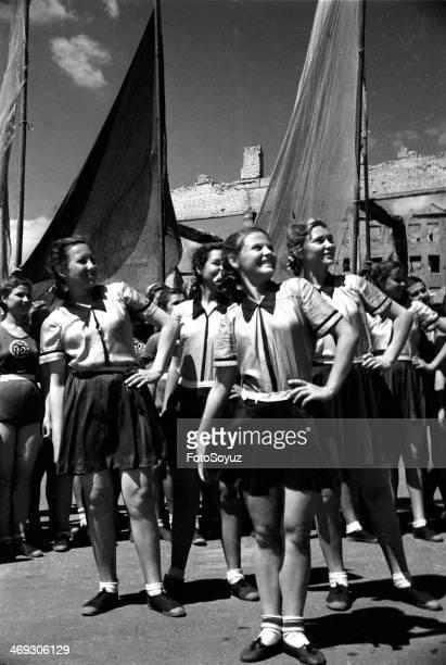 First sports parade Stalingrad Summer 1945