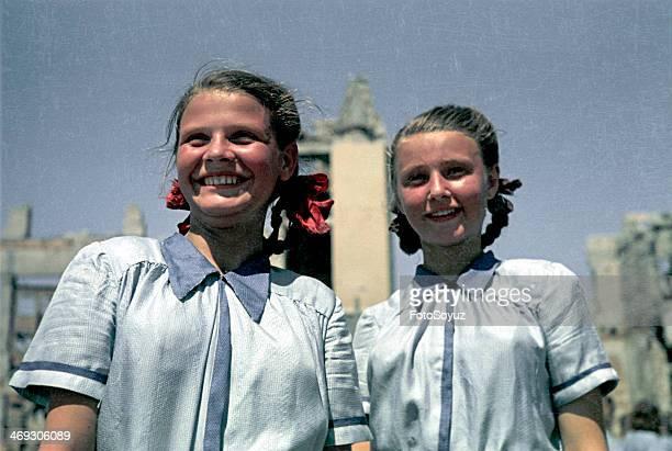 Stalingrad First postwar sports parade Summer 1945