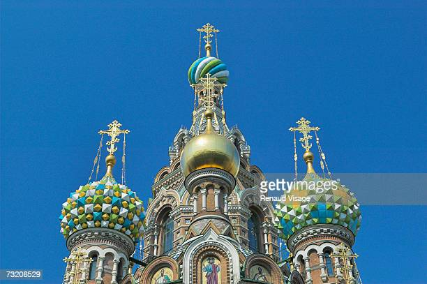 Russia, St Petersburg, domes of Church of the Saviour on Spilled Blood