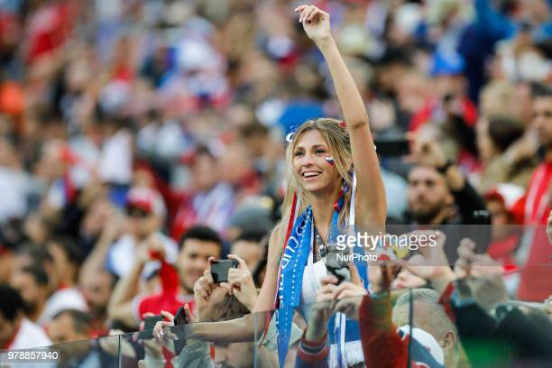 Russia supporter during the 2018 FIFA World Cup Russia group A match between Russia and Egypt on June 19 2018 at Saint Petersburg Stadium in Saint...