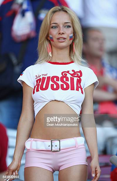 Russia supporter is seen prior to the UEFA EURO 2016 Group B match between Russia and Wales at Stadium Municipal on June 20 2016 in Toulouse France