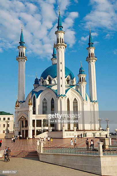 russia, tatarstan republic, city of kazan.  - kul sharif mosque stock pictures, royalty-free photos & images