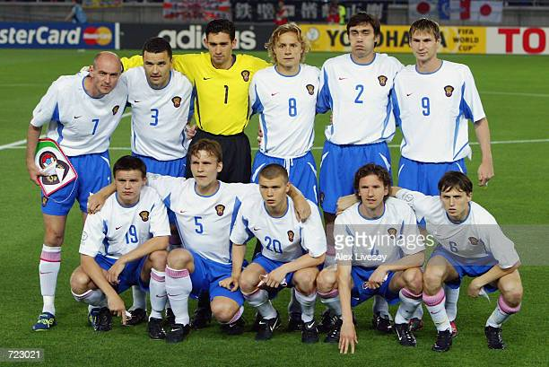 Russia team group taken before the FIFA World Cup Finals 2002 Group H match between Japan and Russia played at the International Stadium Yokohama in...