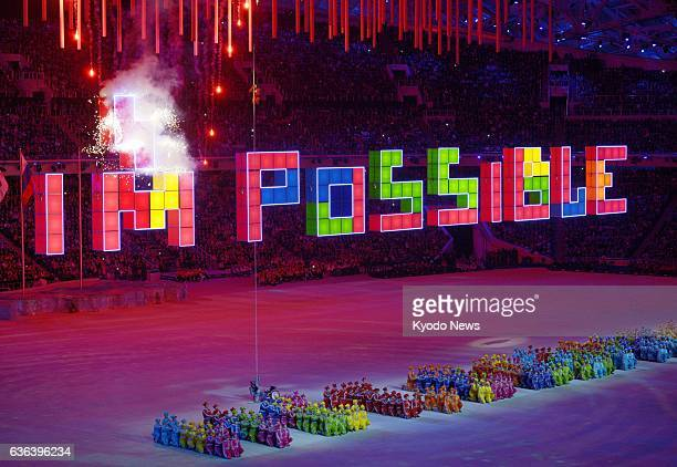 SOCHI Russia The closing ceremony for the Winter Paralympics is held at Fisht Olympic Stadium in Sochi Russia on March 16 2014