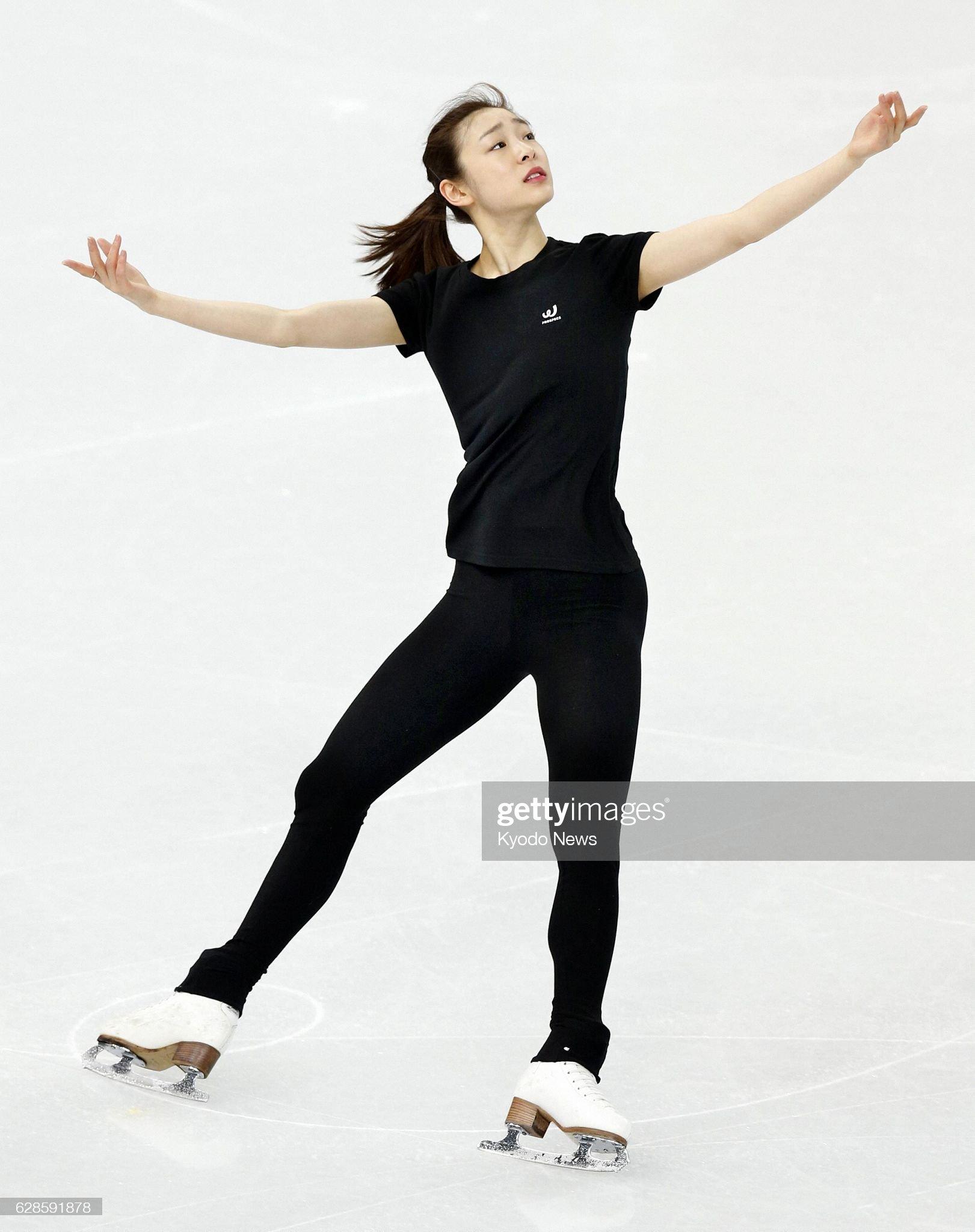 South Korea's Kim prepares for women's short program : News Photo