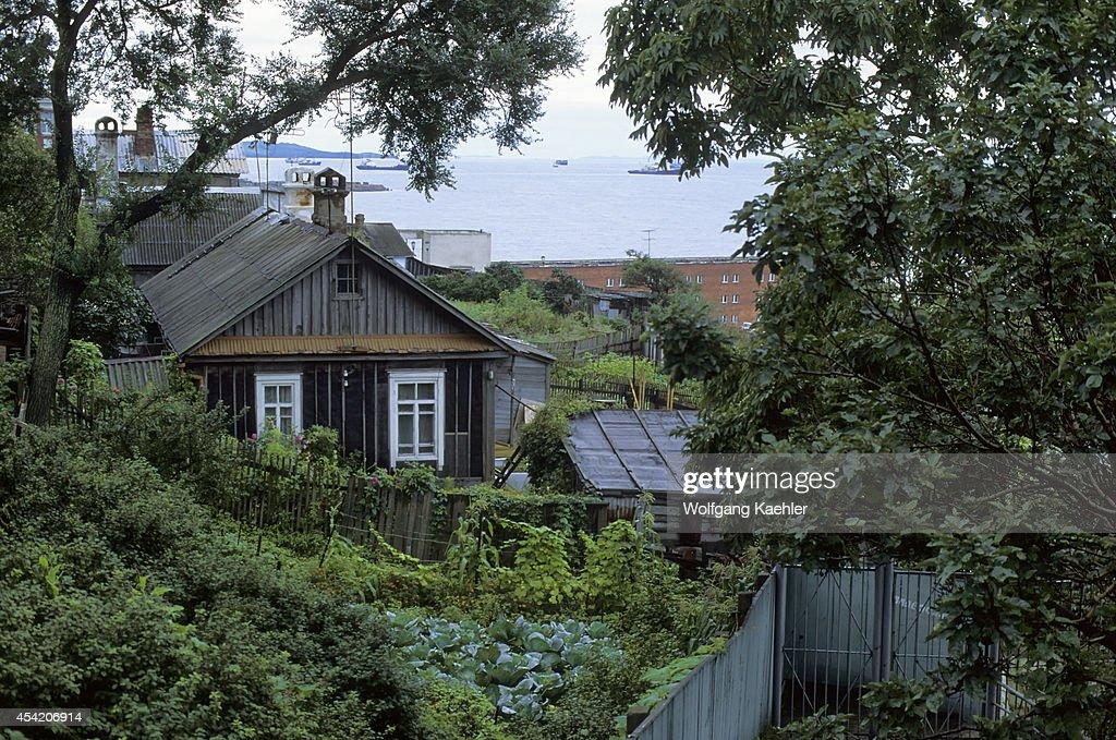 Russia, Vladivostok, House With Vegetable Garden.