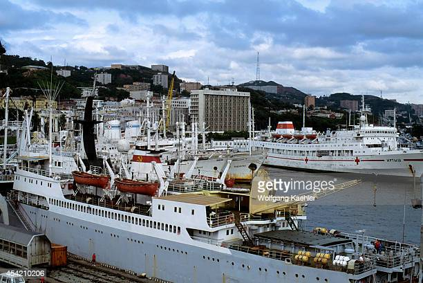 Russia Vladivostok Port Russian Ships