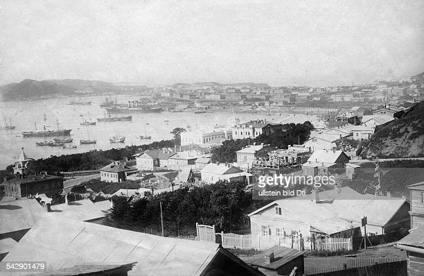 Russia Vladivostok view of the town and harbour 1904photo by Jean Duval