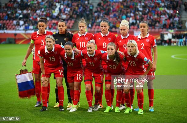 Russia Women team group photo during the UEFA Women's Euro 2017 match between Russia and Germany at Stadion Galgenwaard on July 25 2017 in Utrecht...