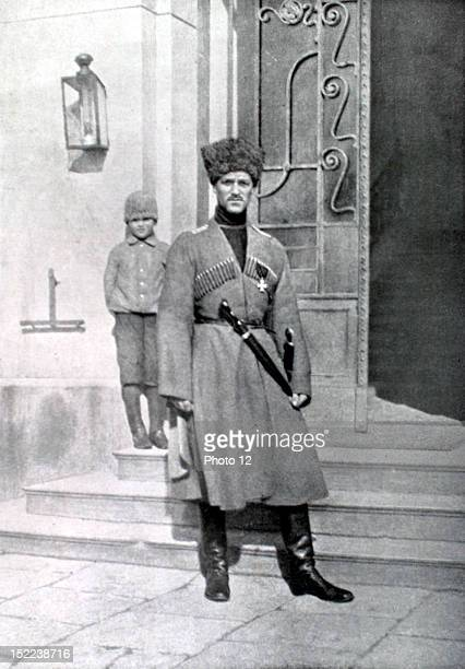 Russia World War I Grandduke Mikhail Alexandrovich brother of Nicholas II in cossack uniform