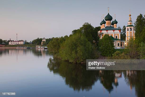 russia, yaroslavl oblast, golden ring, uglich - volga stock pictures, royalty-free photos & images