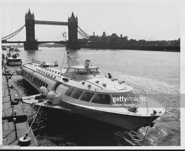 Russian 100 seater seagoing hydrofoil Kometa | Location Pool of London London England UK