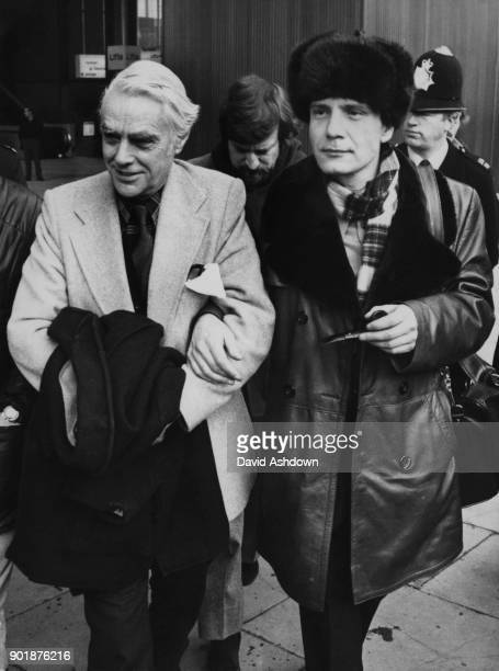 Russian activist Vladimir Bukovsky is met by actor David Markham at Heathrow Airport UK upon his arrival from the Soviet Union via Switzerland 4th...