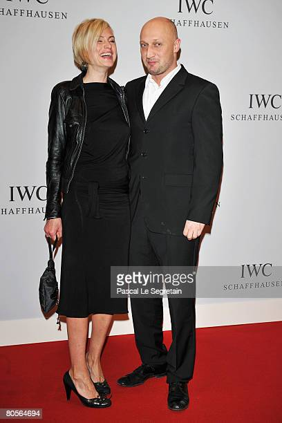 Russian actor Gosha Kutzenko ans guest attend 'The Crossing' gala event hosted by IWC Schaffhausen held at the Geneva Palaexpo on April 8 2008 in...
