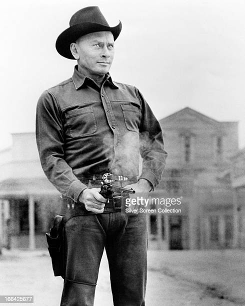 Russian actor Yul Brynner as the robot Gunslinger in 'Westworld' directed by Michael Crichton 1973