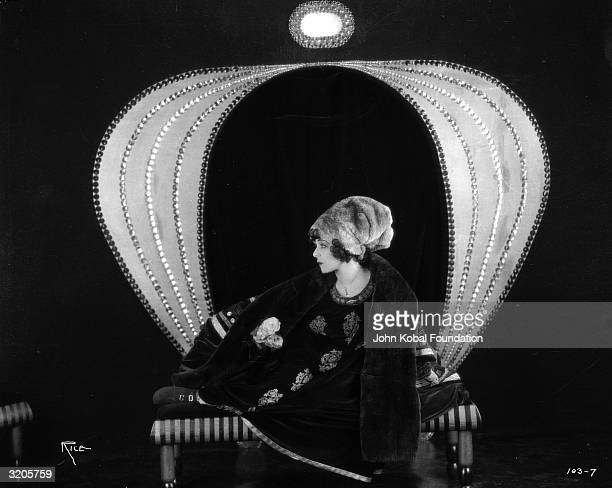 Russian actress Alla Nazimova plays an ailing courtesan in 'Camille' directed by Ray C Smallwood and based on the novel 'La Dame aux Camelias' by...