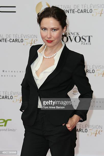 Russian Actress and Producer Agata Gotova attends the opening ceremony of the 54th Monte Carlo TV Festival at the Grimaldi Forum on June 7 2014 in...