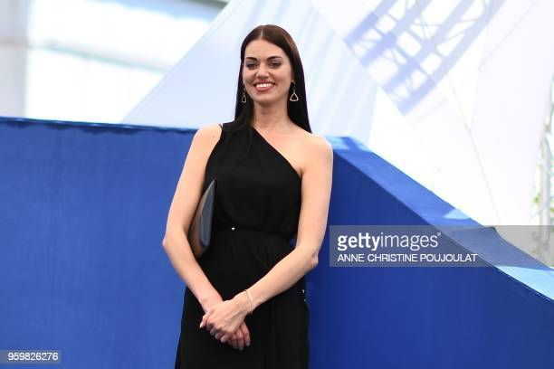 Russian actress Natalja Titarenko attends on May 18 2018 a photocall for the film 'Ayka ' at the 71st edition of the Cannes Film Festival in Cannes...