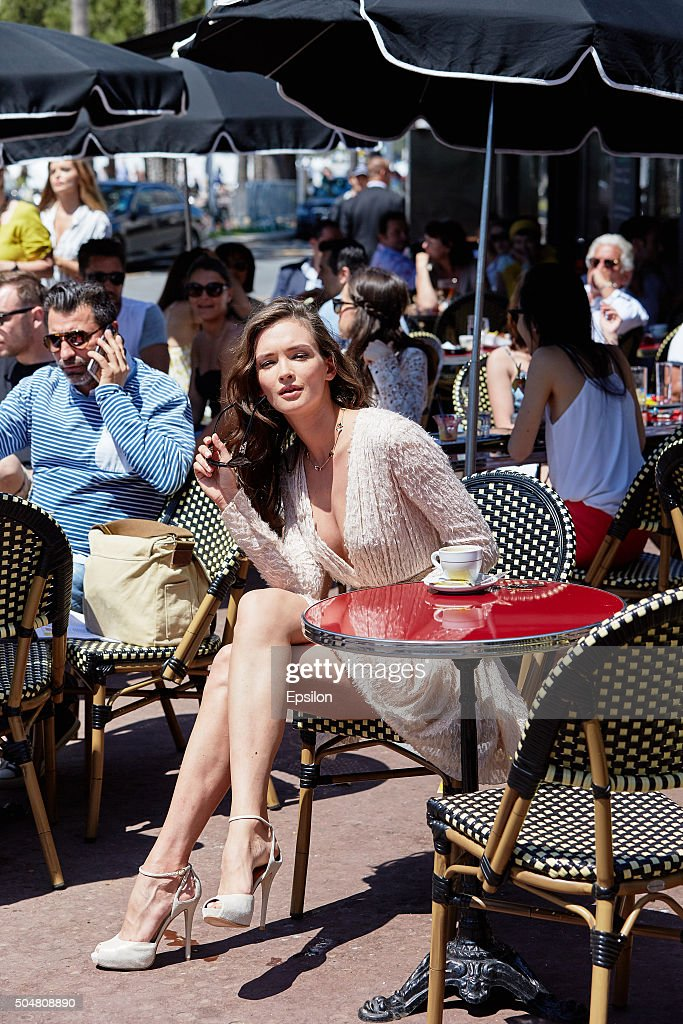 Russian Actress Paulina Andreeva During The 68th Cannes Film Festival : News Photo