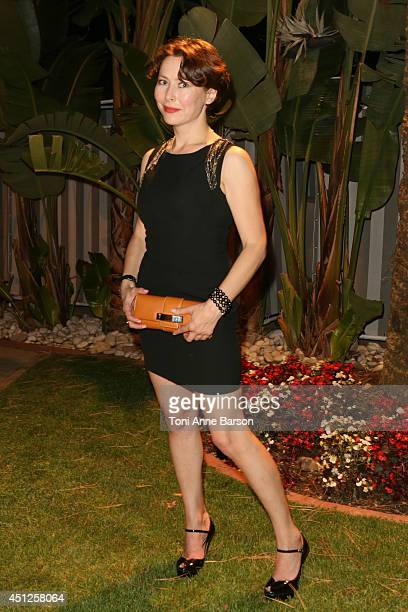 Russian Actress Producer Agata Gotova poses during the Chik Radio Party at the Sea Lounge Beach Club on June 25 2014 in Monte Carlo Monaco