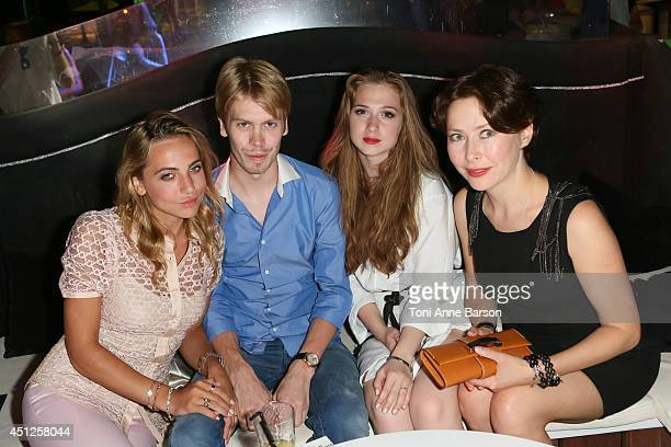 Russian Actress Producer Agata Gotova poses with Anastasia Graff Christopher Smurfit and actress Anna Klimkina during the Chik Russian Party at the...
