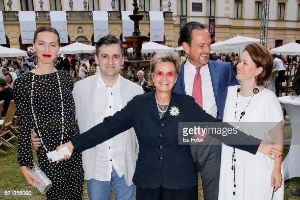 Russian actress Svetlana Dryga Russian politician Stanislav Voskresensky Gloria von Thurn und Taxis her brother Alexander von SchoenburgGlauchau and...